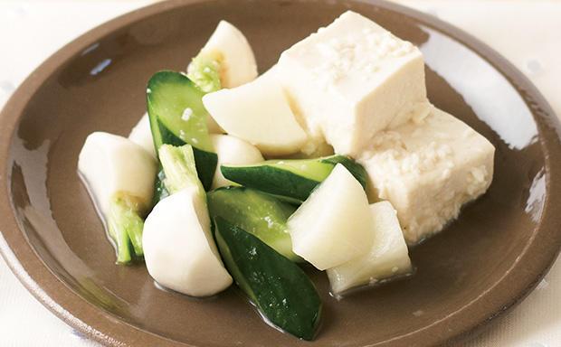 野菜とお豆腐のヘルシー漬け