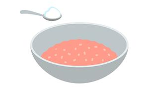 肉団子はまず先に塩を混ぜること