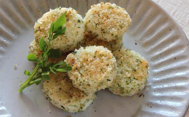 長芋の海苔塩パン粉焼き
