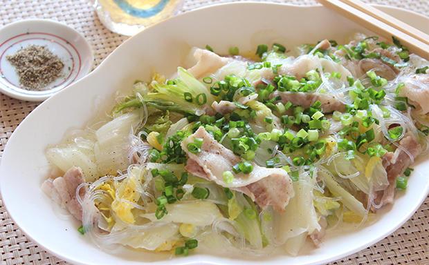 白菜と豚バラ肉のうましお煮